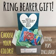 Ring Pop Boxes Ring Bearer Gift He Popped The Question Now Its My Turn
