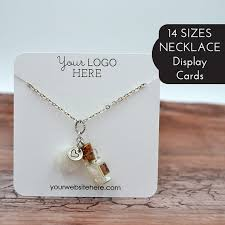 necklace pendant display images 14 sizes custom necklace cards with your logo jewelry jpg