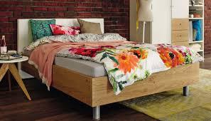 standardbett einzel modern aus eiche now time 4233