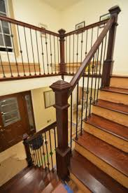 Wood Banister Aesthetic Craft Wood Railings Contractors 6 Spring Hill Rd