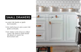 horizontal top kitchen cabinets how to place cabinet knobs according to an interior designer