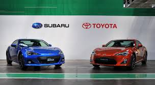 subaru lifestyle production of the subaru brz and toyota gt 86 begins in japan news