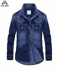 jeep light blue afs jeep light blue denim shirt men cotton mens denim shirt men