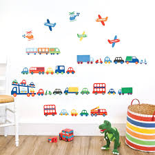 transport wall stickers jojo maman bebe plant wall stickers if you re looking for a simple way to liven up a bedroom or nursery without affecting paintwork choose our transport wall stickers featuring a gorge