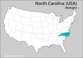Nc Zip Code Map Usa Map Puzzle One Stateone Puzzle Piece North Carolina Raleigh