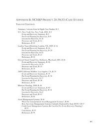 appendix b nchrp project 20 59 33 case studies a pre event