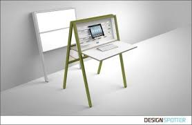 folding desks for small spaces hidesk folding desk the walking office by michael hilgers