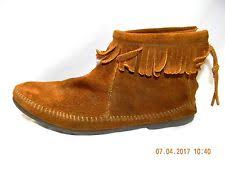 womens fringe boots size 9 minnetonka suede ankle boot ebay