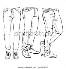 hand drawn fashion design mens jeans stock vector 444806023