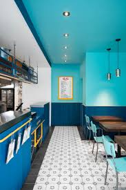 small and vibrant restaurant interior in montreal small