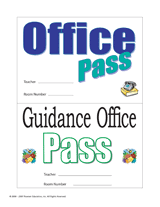 Bathroom Pass Punch Card Classroom Passes And Notes Teachervision