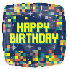 minecraft balloons anagram minecraft birthday pixels 18 inch square balloon from