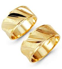 golden couple rings images Solid 14k yellow gold slant etched wedding band set matching jpg