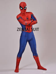 3d print spandex civil war spiderman costume halloween cosplay