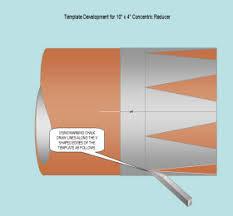 concentric reducer fabeasy pipe template development