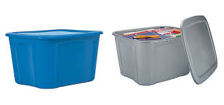 stock up 18 gallon storage totes only 3 00 at staples the