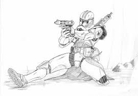 clone with pistol by kuk man deviantart com on deviantart star