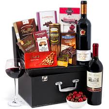 wine and chocolate gift basket wine duo chocolate suitcase by gourmetgiftbaskets