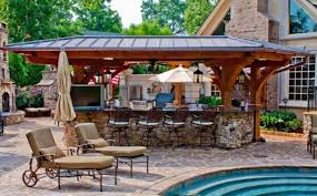 Backyard Designs With Pool And Outdoor Kitchen For Goodly Backyard - Backyard designs with pool and outdoor kitchen