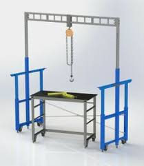 Welding Table Plans by Welding Table Is Hydraulic And On Casters Perfect For A Welding