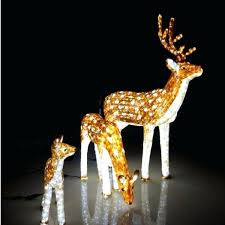 lighted reindeer outdoor lighted reindeer and sleigh lighted outdoor sleigh and