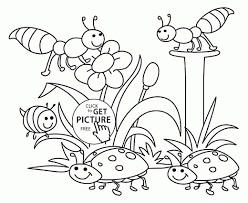 nature coloring sheets preschoolers spring nature coloring page