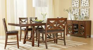 kitchen art van dining table magnolia dining table dark brown