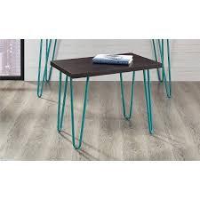 altra owen retro coffee table altra owen retro stool 17 espresso finish with teal metal legs