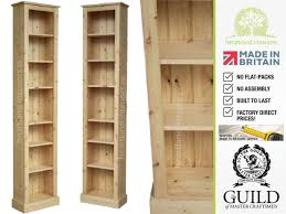 Narrow Bookcase Oak by Solid Pine Or Oak 7ft Tall Narrow Slim Jim Bookcase