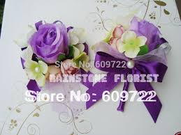 Corsage And Boutonniere For Prom Popular Purple Corsage For Prom Buy Cheap Purple Corsage For Prom