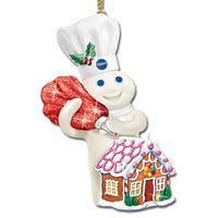 pillsbury doughboy danbury mint glitter ornaments
