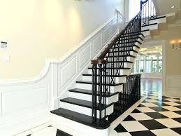 black staircase black stair railing interior stylish floating staircase design with