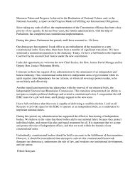 Bench Office Address President Kenyatta State Of The Nation Address 2017