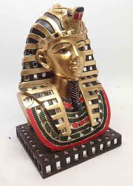 amazon com ancient egyptian pharaoh king tut bust mask statue