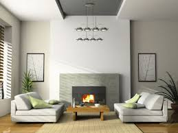 modern living roomn with fireplace and tv on opposite walls corner