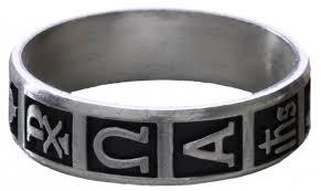 rosary ring silver christian symbols rosary ring rrscs