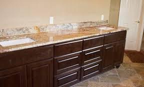 Bathroom Vanity Granite Countertop Master Bathroom Vanity With Cherry Cabinets