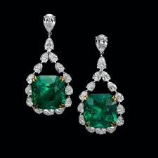 emerald earrings feast your on our and transparent 17 carats each cushion