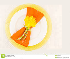 Table Place Settings by Spring Table Place Setting Stock Photo Image 52808403