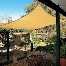 uv protection polyester sun shade sail 6x4m outdoor garden top