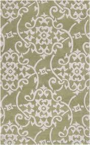 Green Throw Rug Surya Cosmopolitan Cos 8828 Silver Gray White Area Rug
