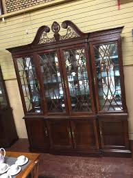 bernhardt china cabinet 76x16x80 consignment furniture depot