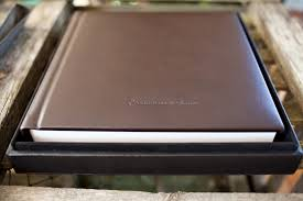 leather wedding albums wedding album jen matt
