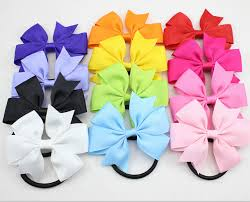 ribbon hair ties new ribbon hair bow with band for girl and woman hair accessories