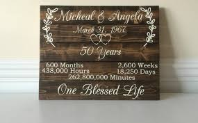 50 year anniversary gift 50 year anniversary 50th anniversary ideas custom wood sign