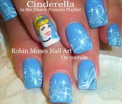 nail art tutorial cinderella nails disney princess nail design