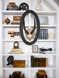 how to decorate a bookshelf bookshelf and wall shelf decorating ideas hgtv