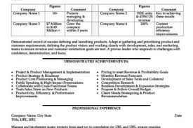 Sample Product Manager Resume by Aerospace Resume Samples Reentrycorps