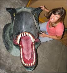 Dinosaur Head Wall Mount Big T Rex Wall Mounted Trophy Head Jurassic World Park Huge