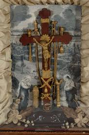 crucifix for sale antique religious shadowbox with crucifix for sale